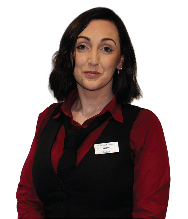 westpark fitness receptionist team vicki
