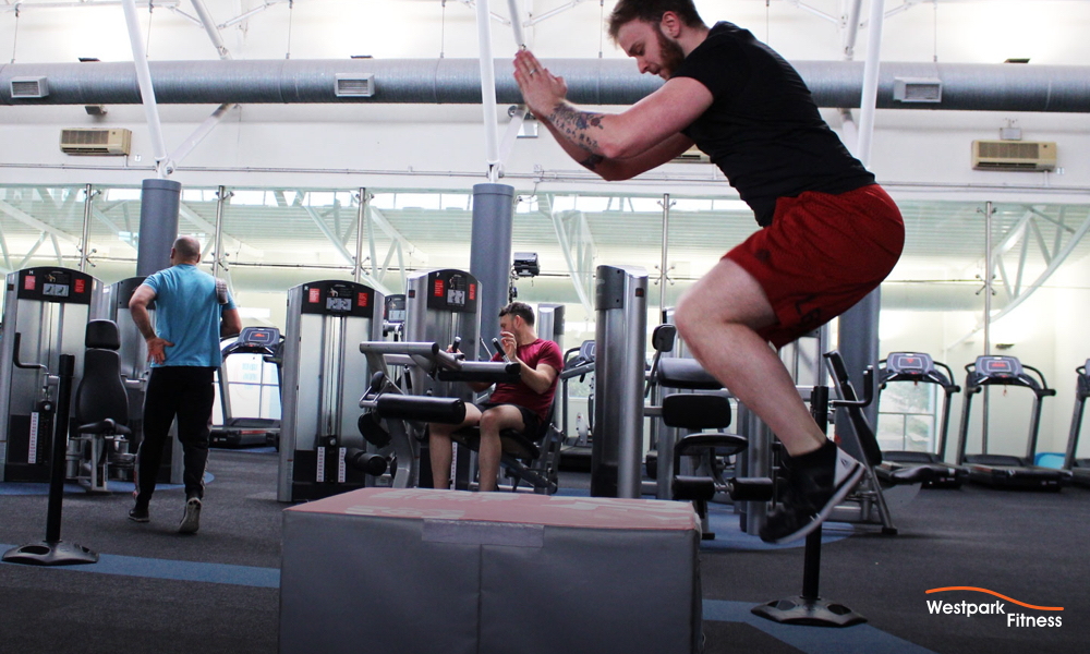 box jump exericse at westpark fitness