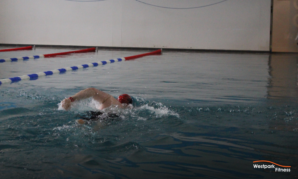 swimming lessons in tallaght dublin 24 westpark fitness swimming pool with a swimmer swimming