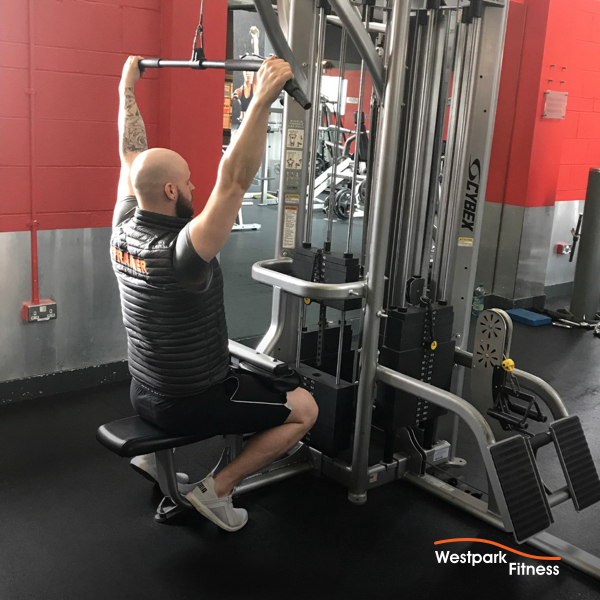 lat pulldown exercise at westpark fitness