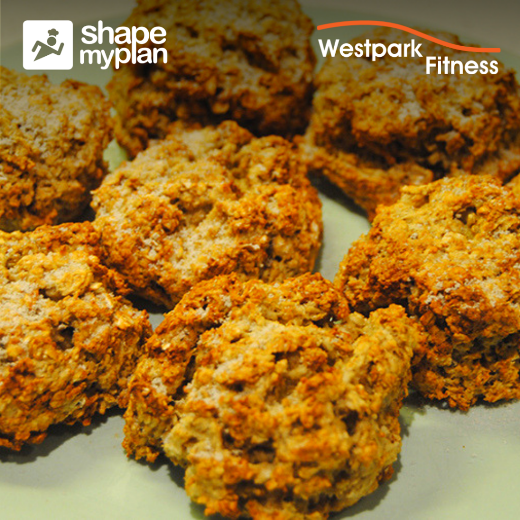 porridge oat scones westpark fitness recipe showing a number of scones on a white plate