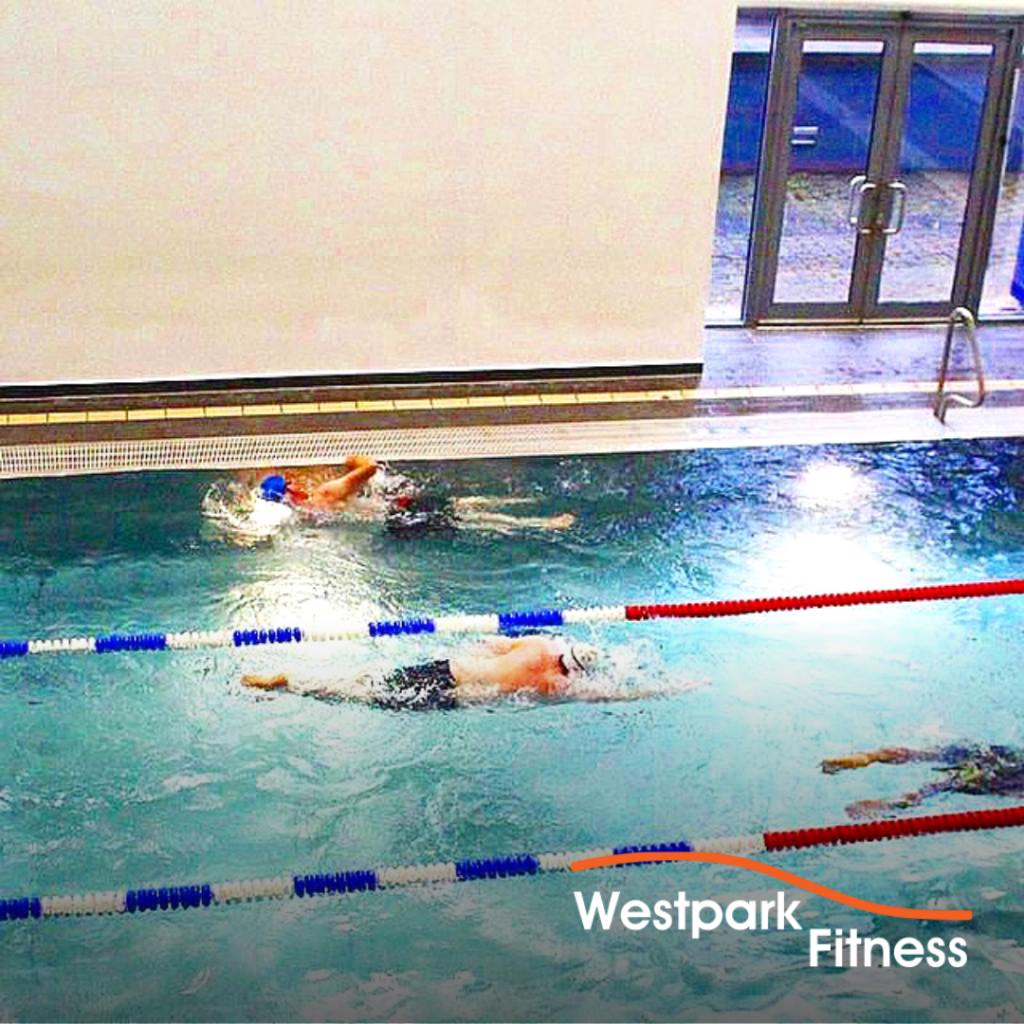 swimming in dublin 24 westpark fitness pool image of lane swimming and three swimmers swimming