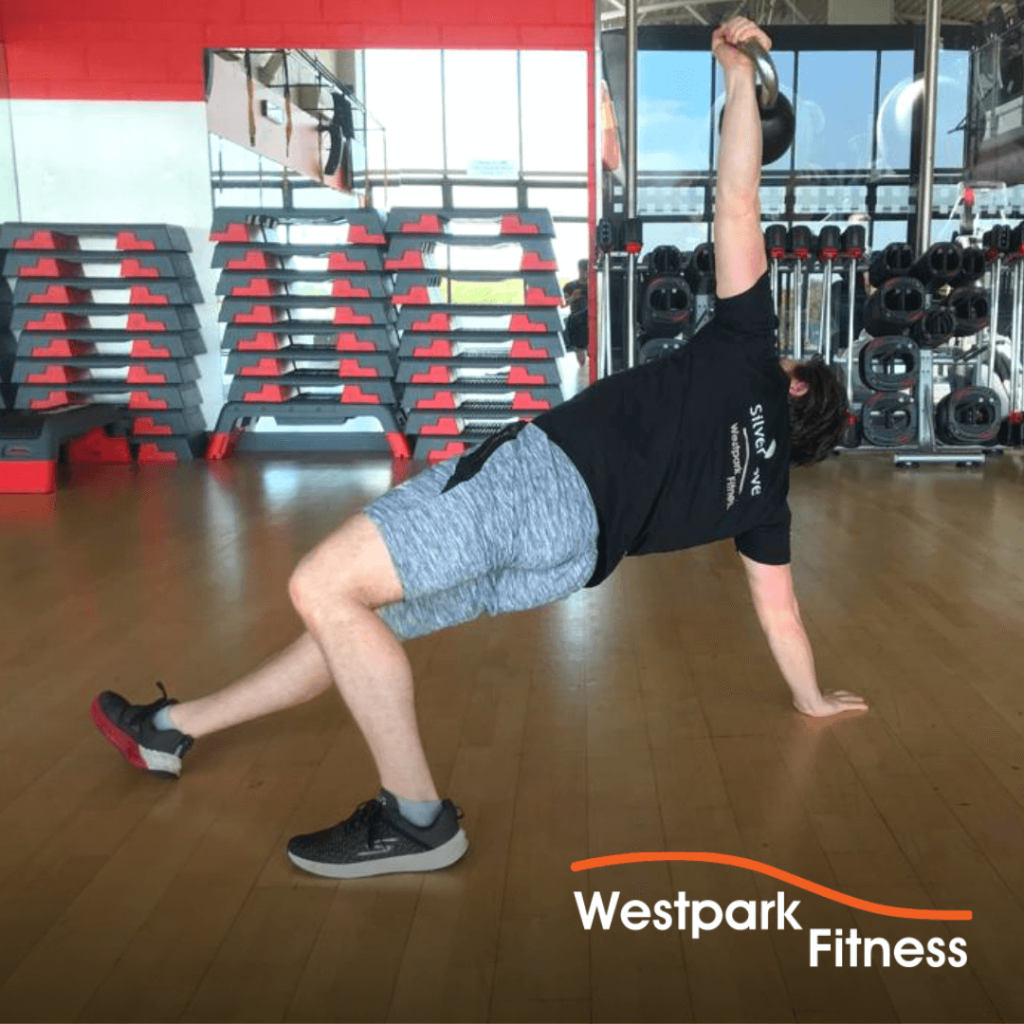 turkish getup exercise at westpark fitness
