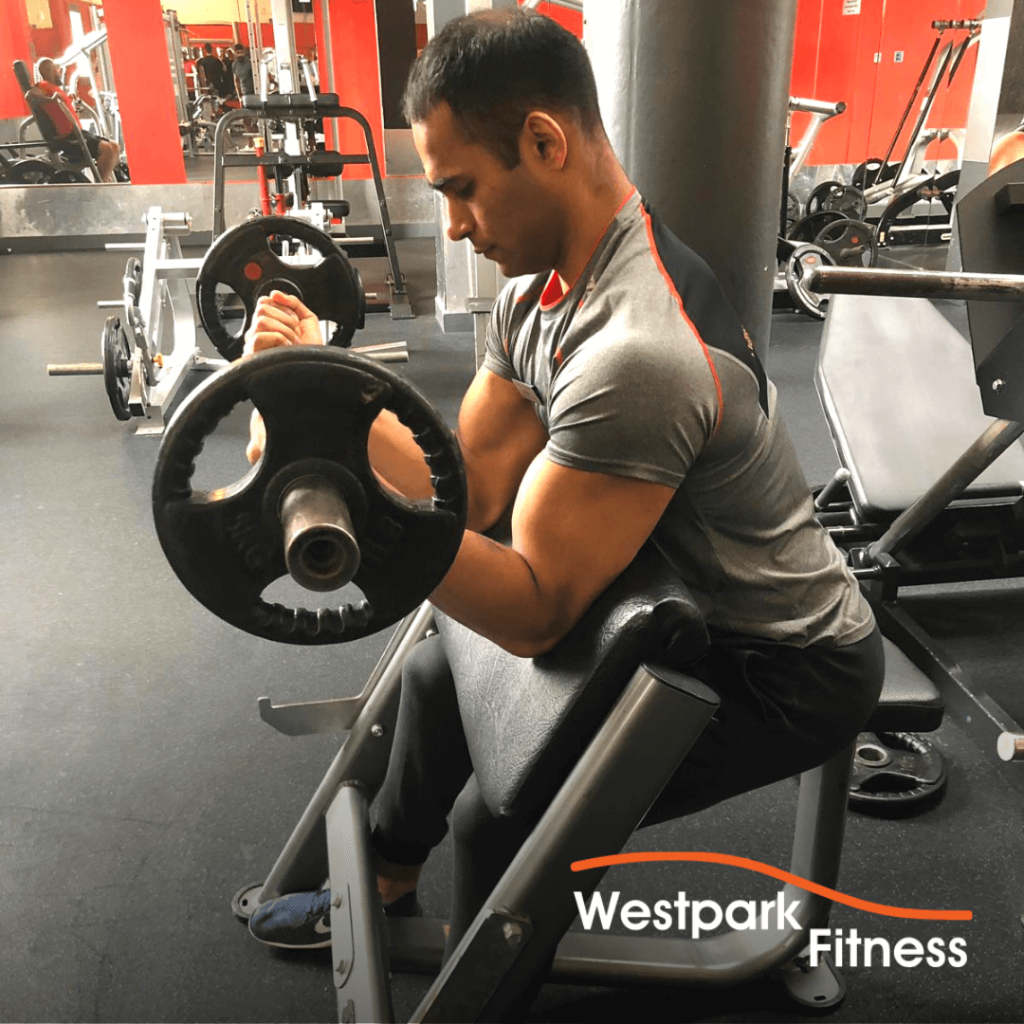 preacher curl exercise of the week at westpark fitness