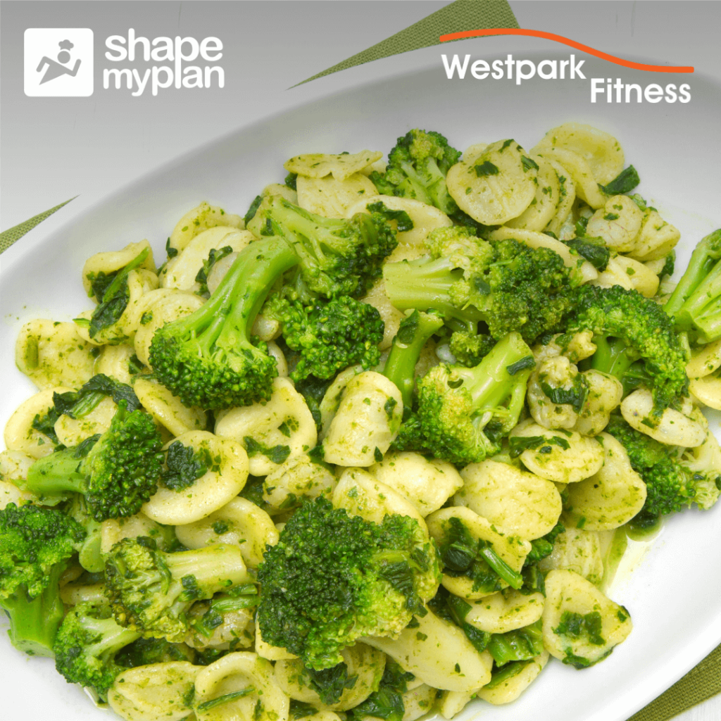 broccoli and pesto pasta recipe of the week at westpark fitness