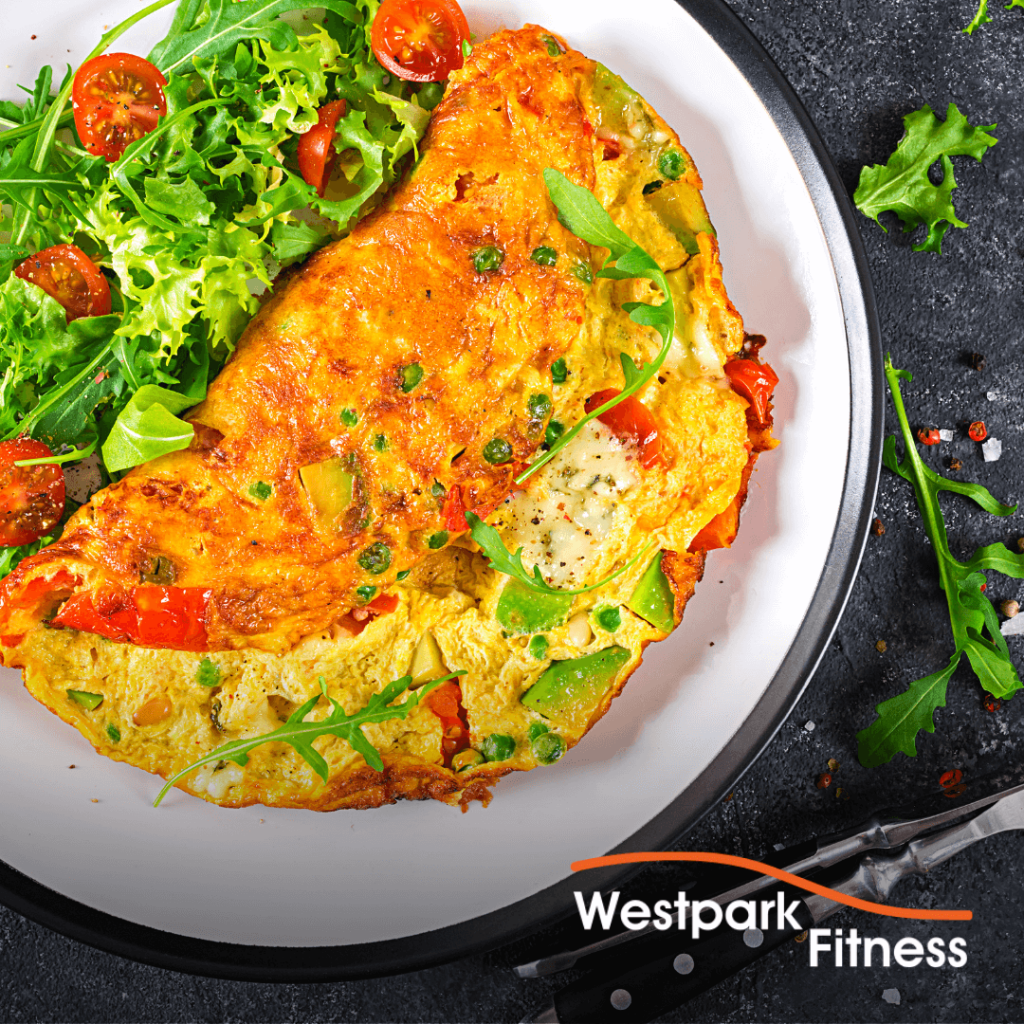 omelette and side salad recipe of the week at westpark fitness