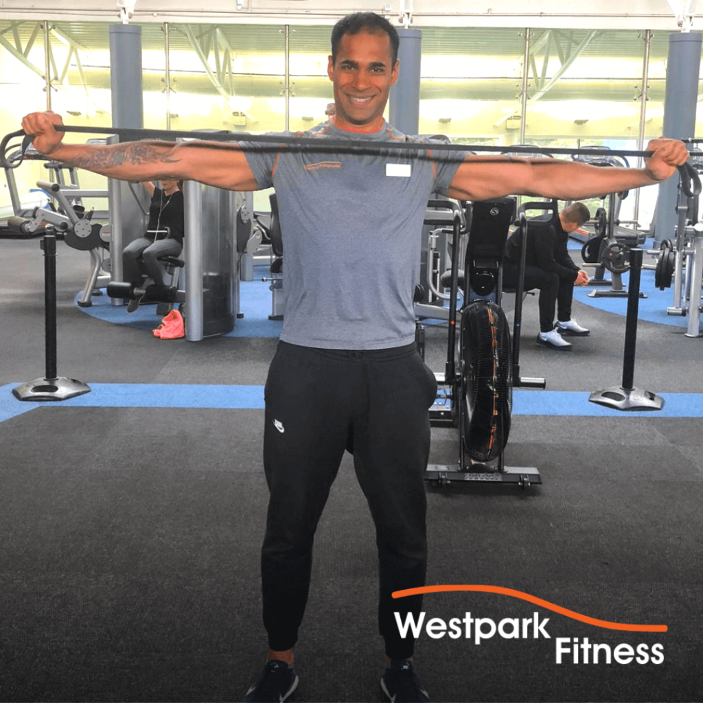 band pull apart exercise of the week at westpark fitness