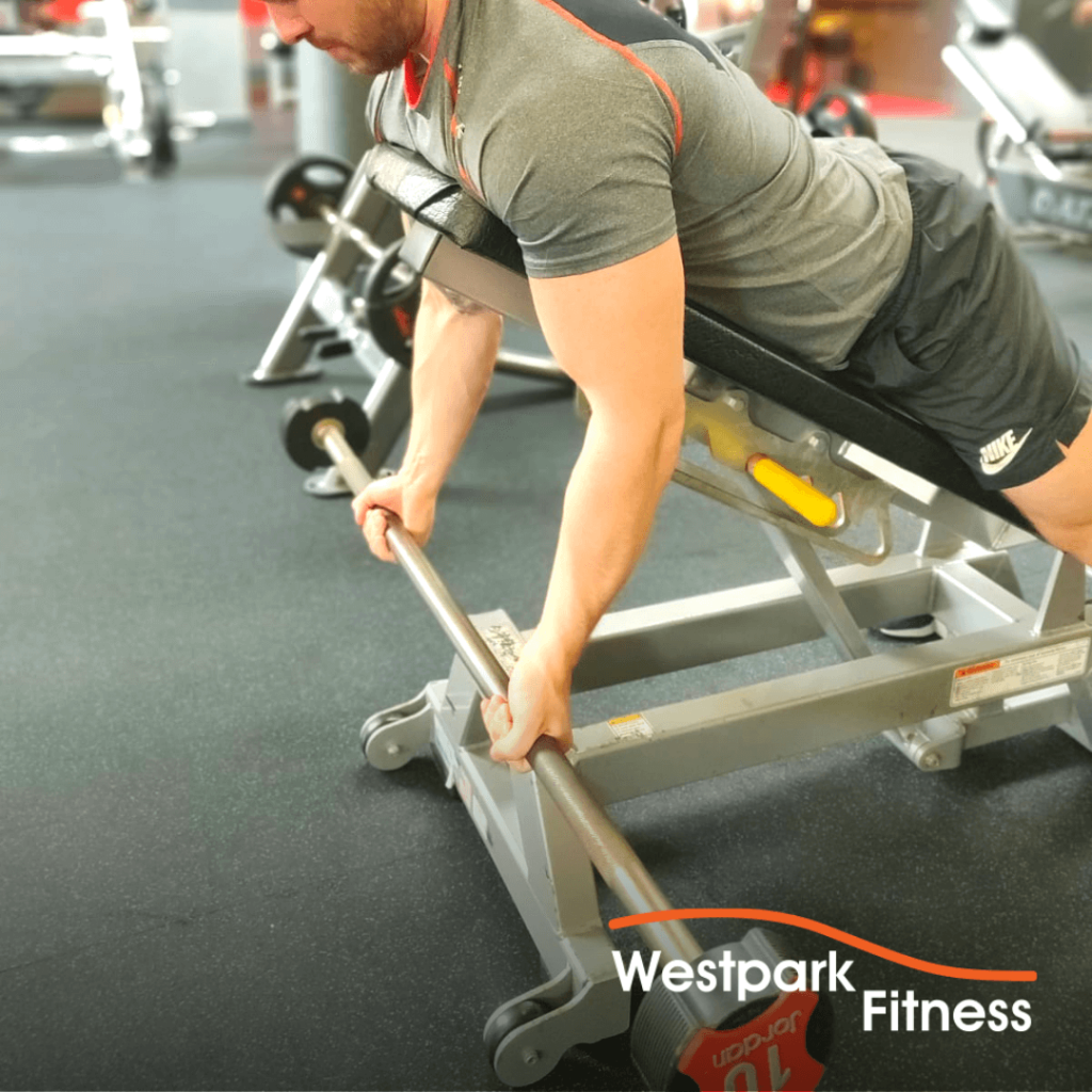 spider curl exercise of the week at westpark fitness