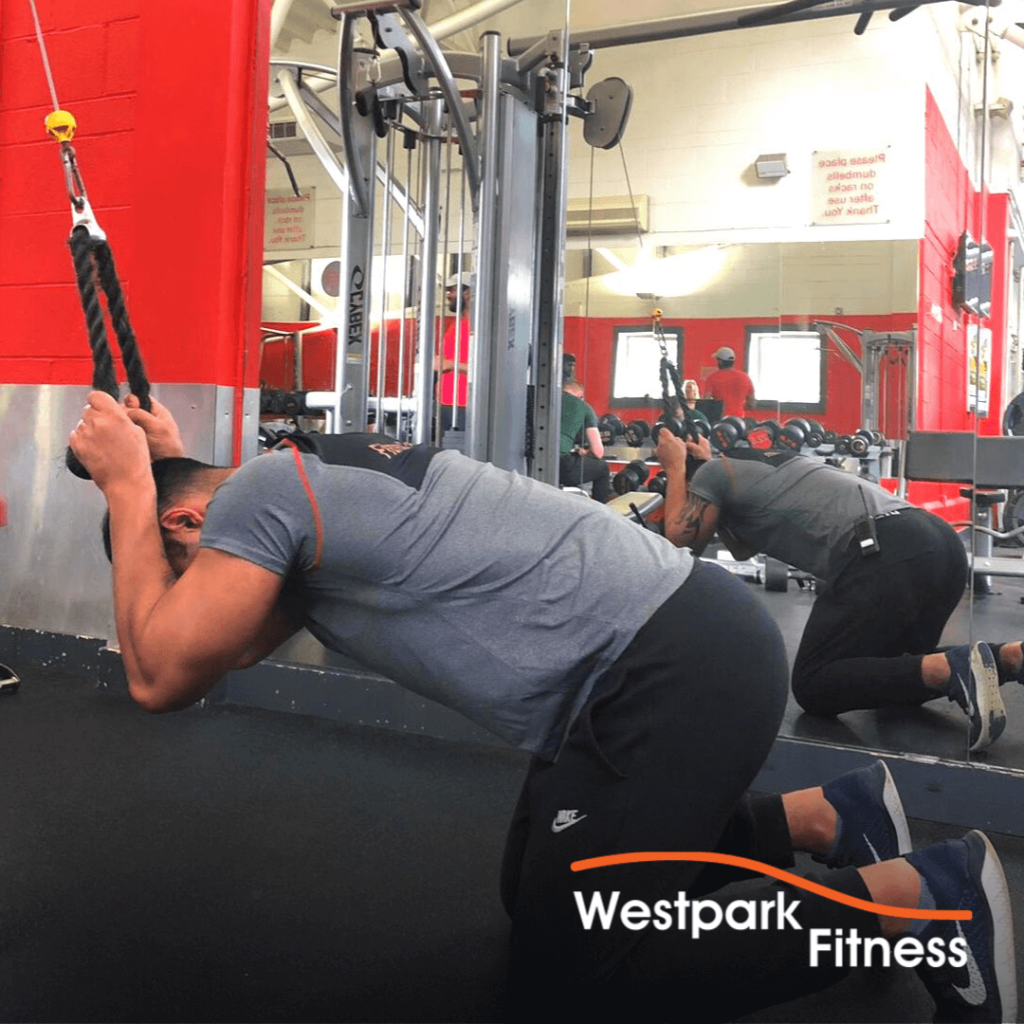 cable crunch exercise of the week westpark fitness