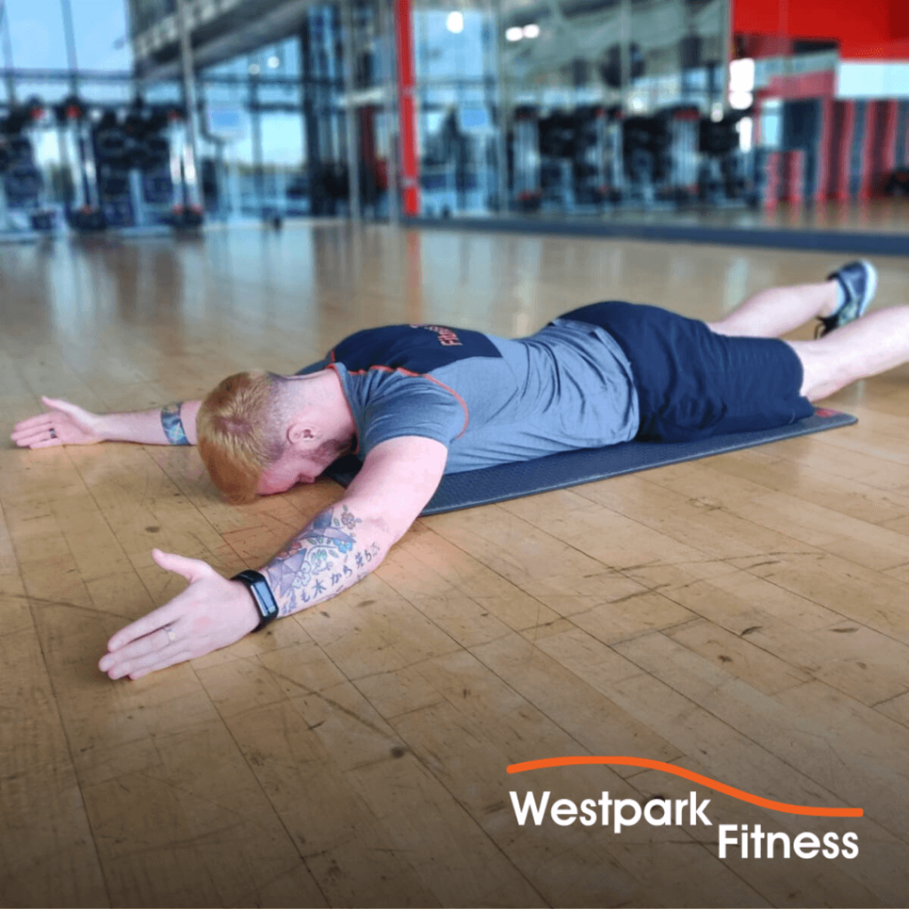 floor y raise exercise of the week at westpark fitness