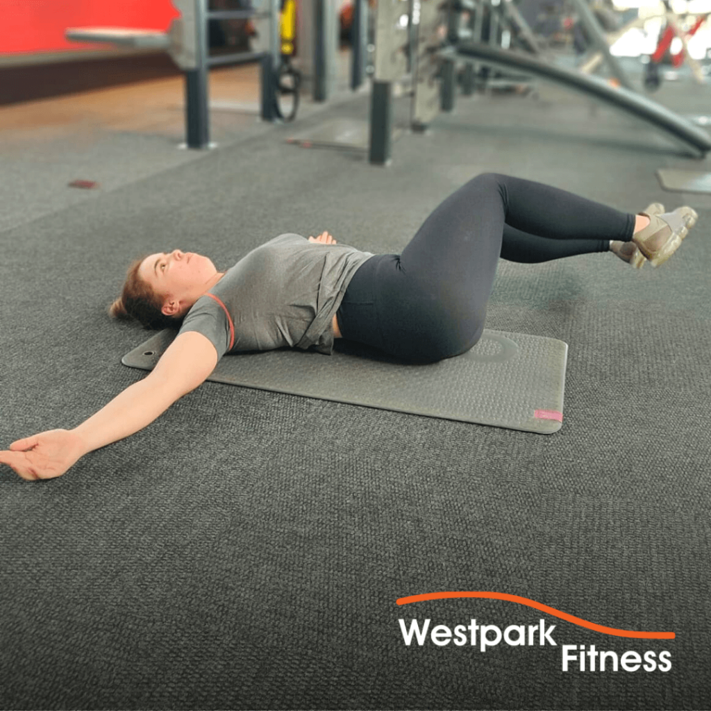 side-to-side knee rolls exercise of the week at westpark fitness