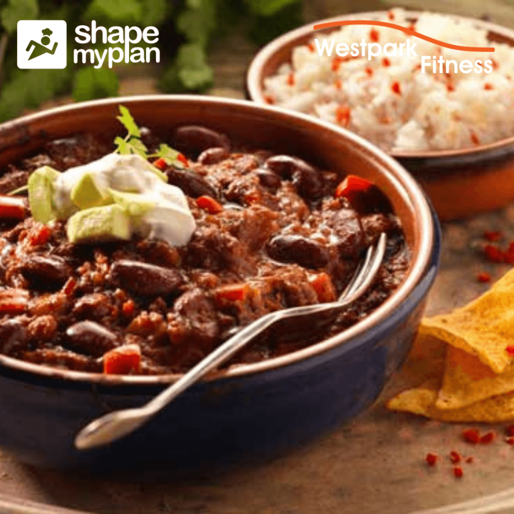 chilli con carne recipe of the week at westpark fitness