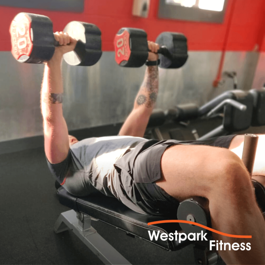 decline dumbbell chest press exercise of the week at westpark fitness