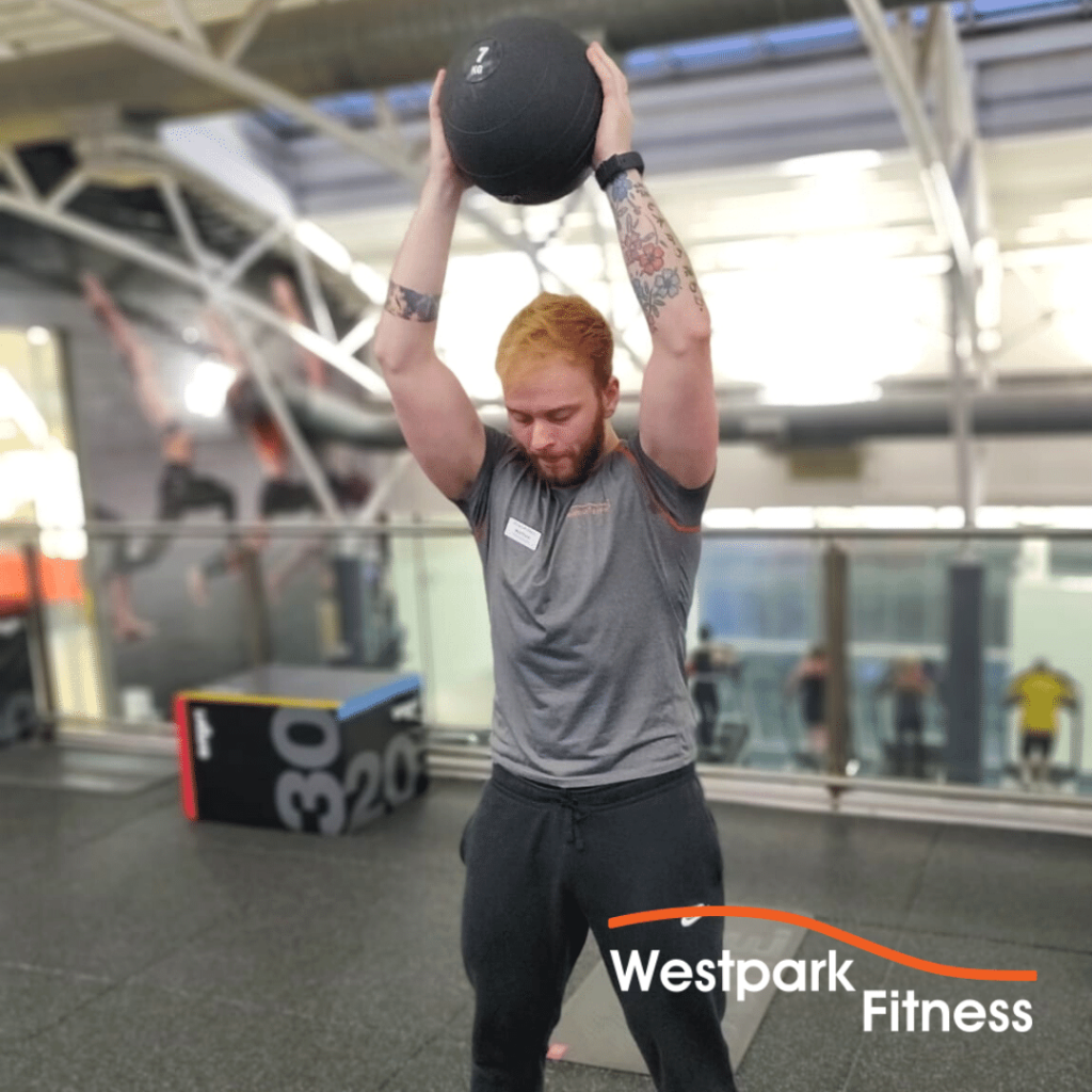 medicine ball slam exercise of the week at westpark fitness